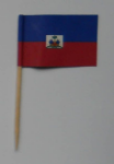 Haiti State Country Flag Cocktail Sticks (pack of 10)
